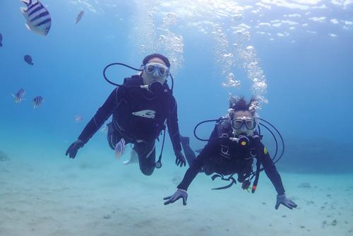 名護市で体験ダイビング2