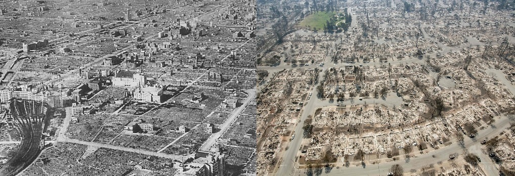 Osaka_after_the_1945_air_raidBombing of Osaka in World War II