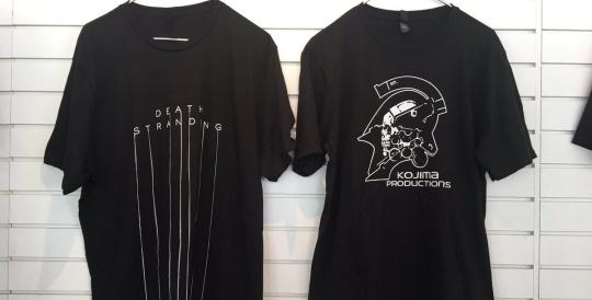PS Gearストアにてデス・ストランディング 、コジマプロダクションTシャツ