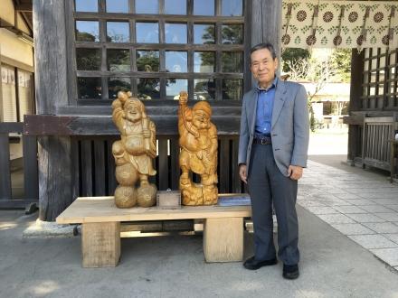 磯前神社の大黒様と恵比寿様