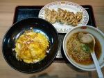 天津キムチ入り焼飯セット@餃子の王将せんば南本町店