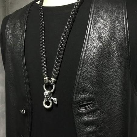 シルバー,ガボール,ガボラトリー,レザーネックレス,Gaborataory,Gabor,Silver,LeatherNecklace