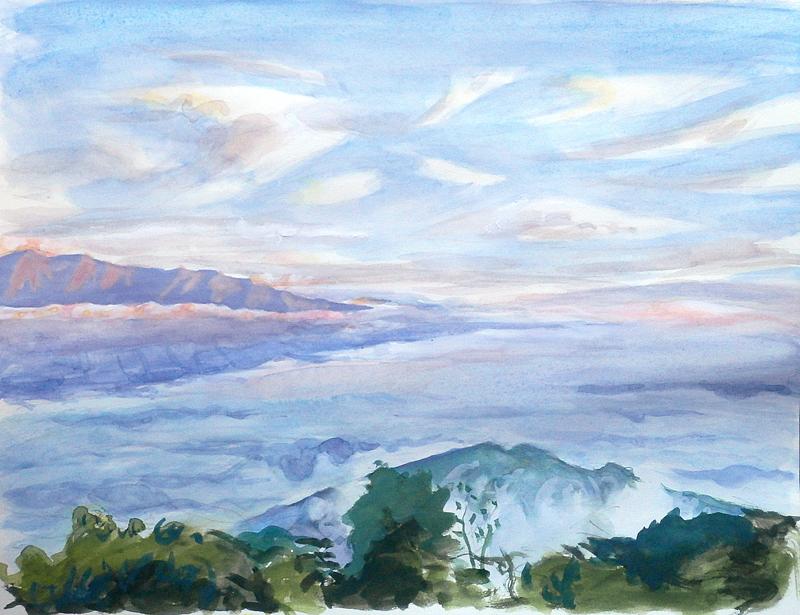 雲海(陣馬形山から)