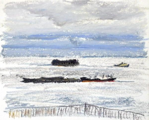 東京湾をゆく船-60