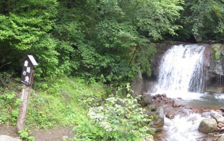 横谷渓谷霧降の滝パノラマ1