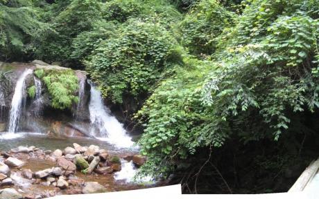 横谷渓谷霧降の滝パノラマ2