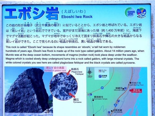 エボシ岩説明版