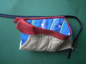 内袋をミシンで一緒に縫う方法180921