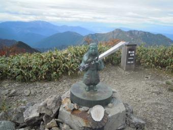 越後駒ケ岳山頂181005
