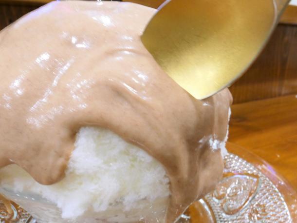 栗のかき氷