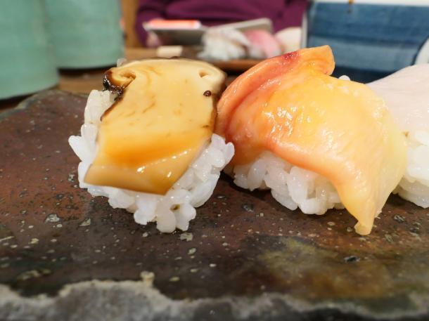 松茸と赤貝