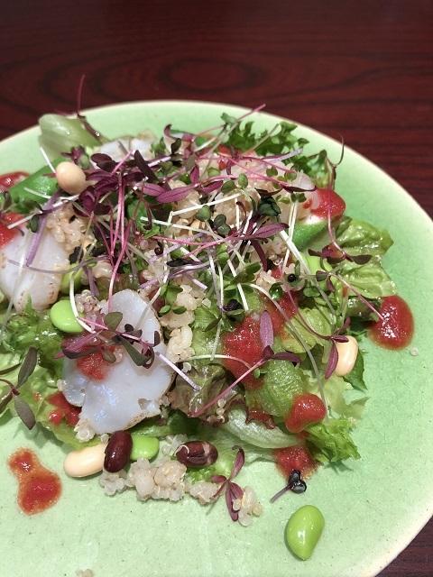 レメデ ニカホ 帆立とオクラのキヌアサラダ ~キイチゴのソース~