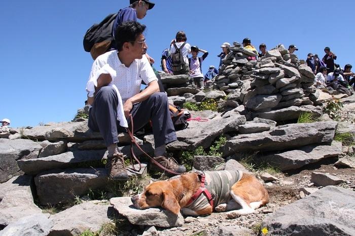 2012根子岳山頂で寝る
