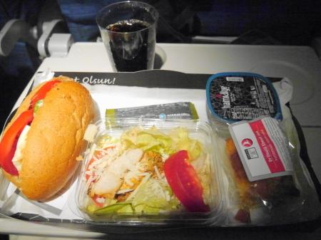 イスタンブール 機内食
