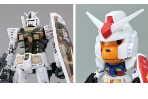 「MG AAPE RX-78-2 GUNDAM GRN-CAMO」「Baby Milo RX-78-2 GUNDAM [SD EX-STANDARD]」t