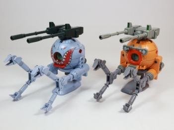 HGUC ボールK型(第08MS小隊版)&ボール(シャークマウス仕様) 2機セット (6)
