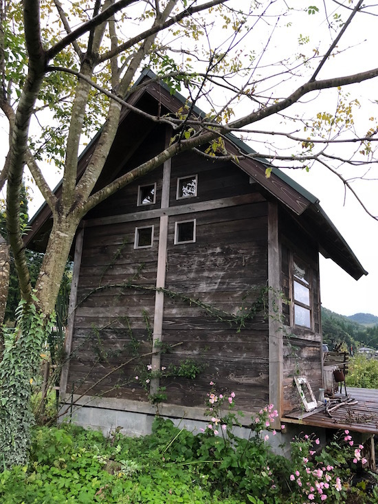 小屋を裏から