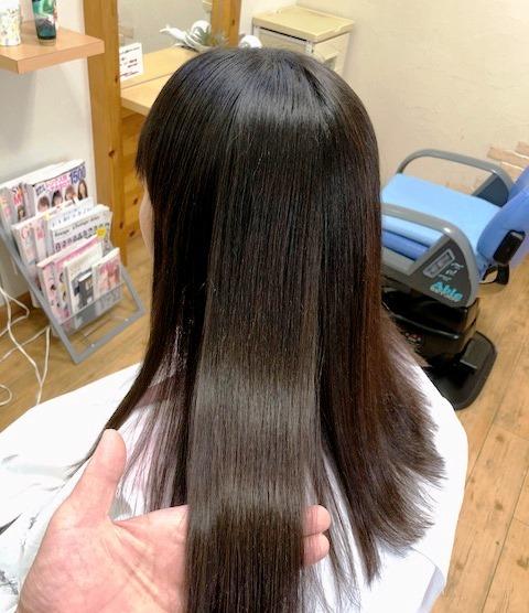 安曇野・松本の艶髪縮毛矯正