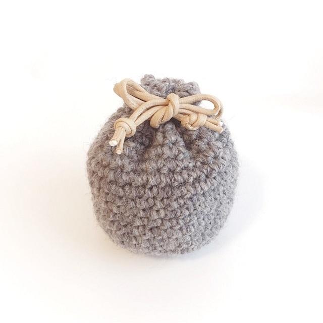 手編み雑貨 HanahanD 巾着袋 多用途に使える インテリア 小物収納
