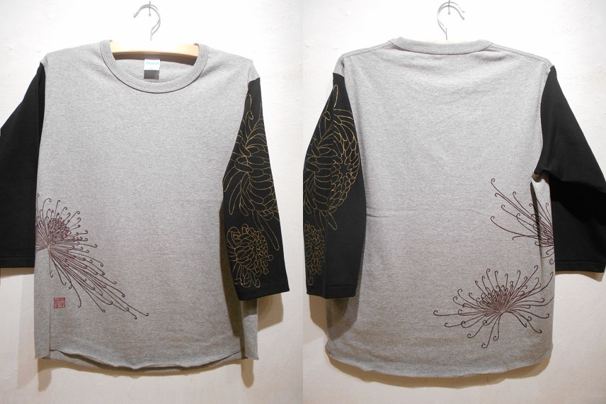 手描きTシャツ 糸菊