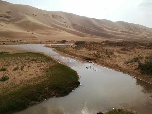 砂漠を流れる川