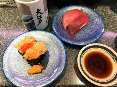 180512大江戸上野2号店サーモン親子とマグロ