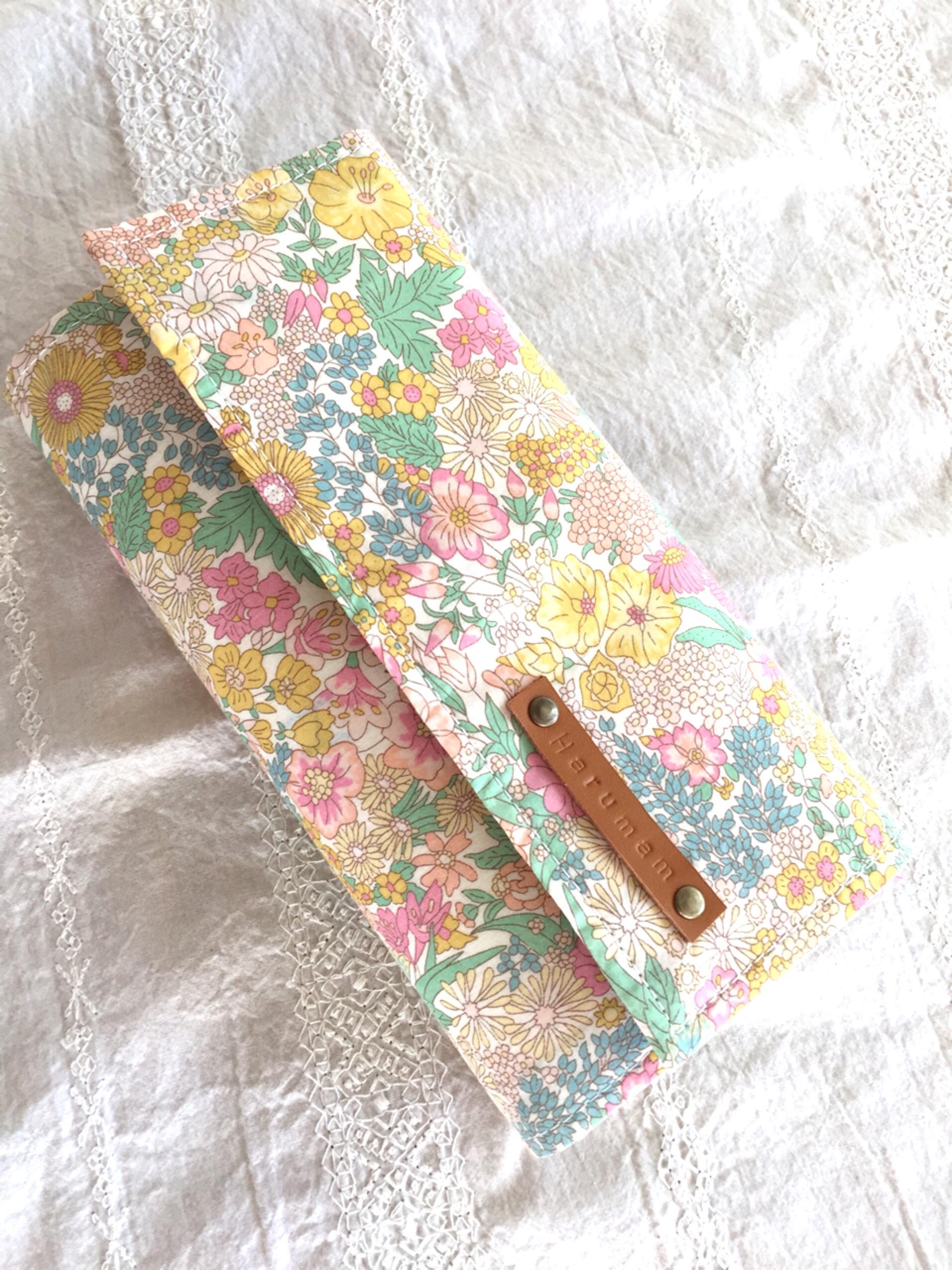 リバティ マーガレットアニーで作った L型背面コインパースの長財布