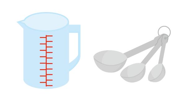 計量カップと計量スプーン