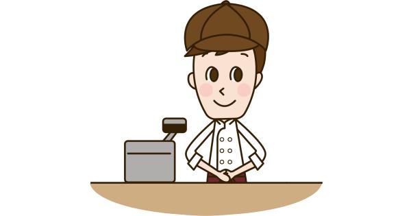 パンの会計を担当している生徒