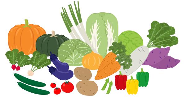 生徒たちが栽培、収穫した野菜