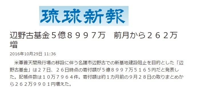宮崎アカオが共同代表の辺野古基金約5億9千万円