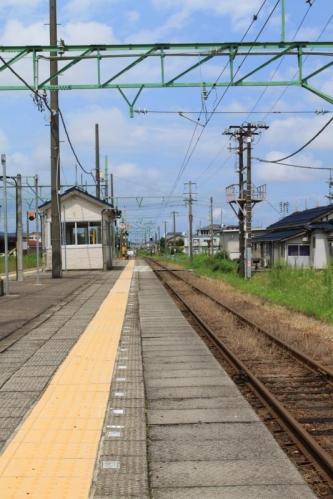 脇野田駅ホームにて