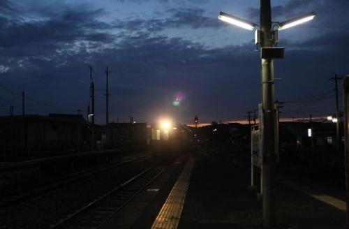前谷地駅の夕暮れ