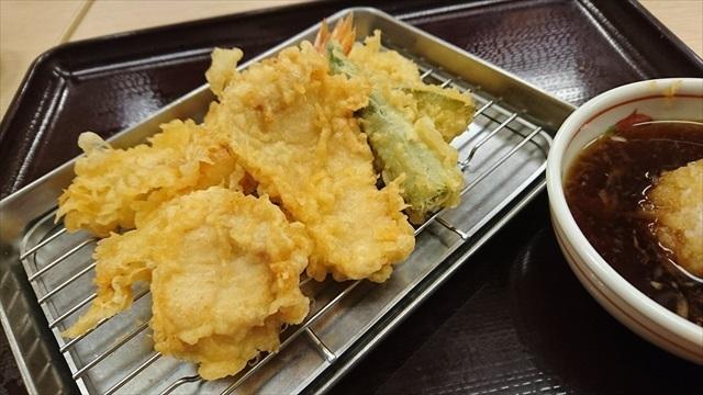 海老と鶏の天ぷら盛り合わせ