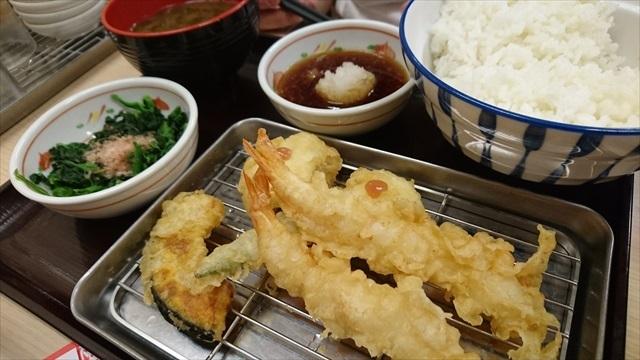 鱧とエビの天ぷら定食