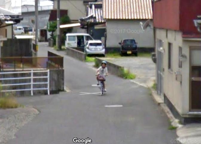 Google 福山市神辺町 自転車女の子