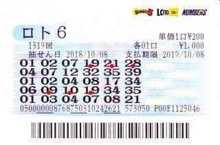 第1319回ロト6赤
