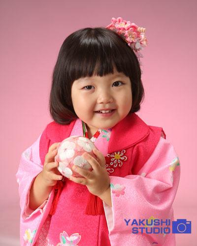 01三歳ピンク着物
