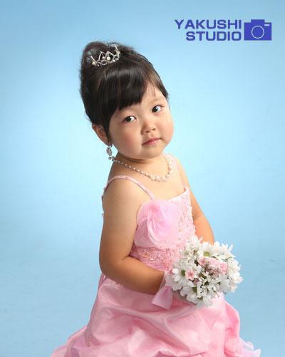 02三歳ピンクドレス