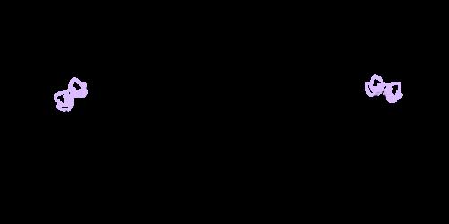 手書き飾りリボン黒柴