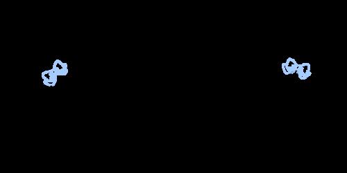 手書き飾りリボン黒水
