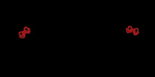 手書き飾りリボン黒赤