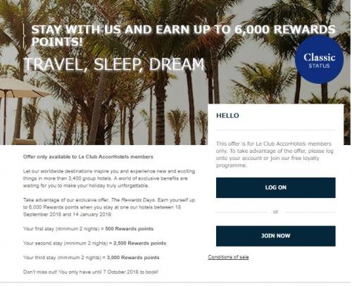 アコーホテルで最大6,000ボーナスポイントキャンペーン