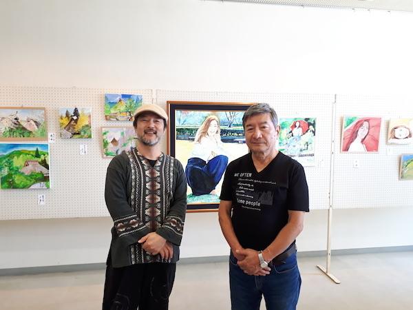 上山さん絵画展2018