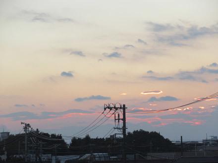 夕方の跨線橋