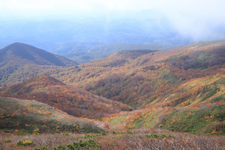 20181008山麓と大地森までの紅葉の様子