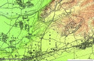 小幡緑地陸軍標柱今昔マップ1932