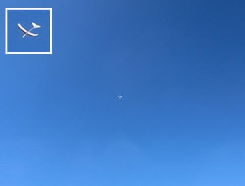 kh18。 青空に吸い込まれていく・・・。