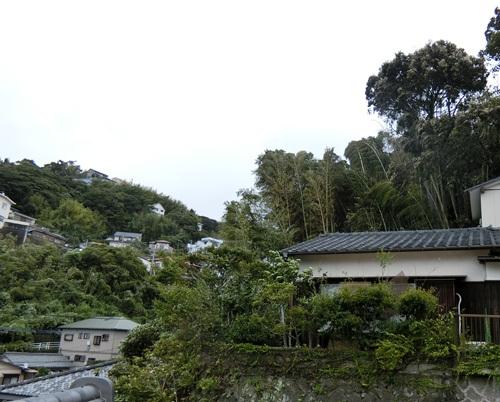 台風24号通過直後の強風。