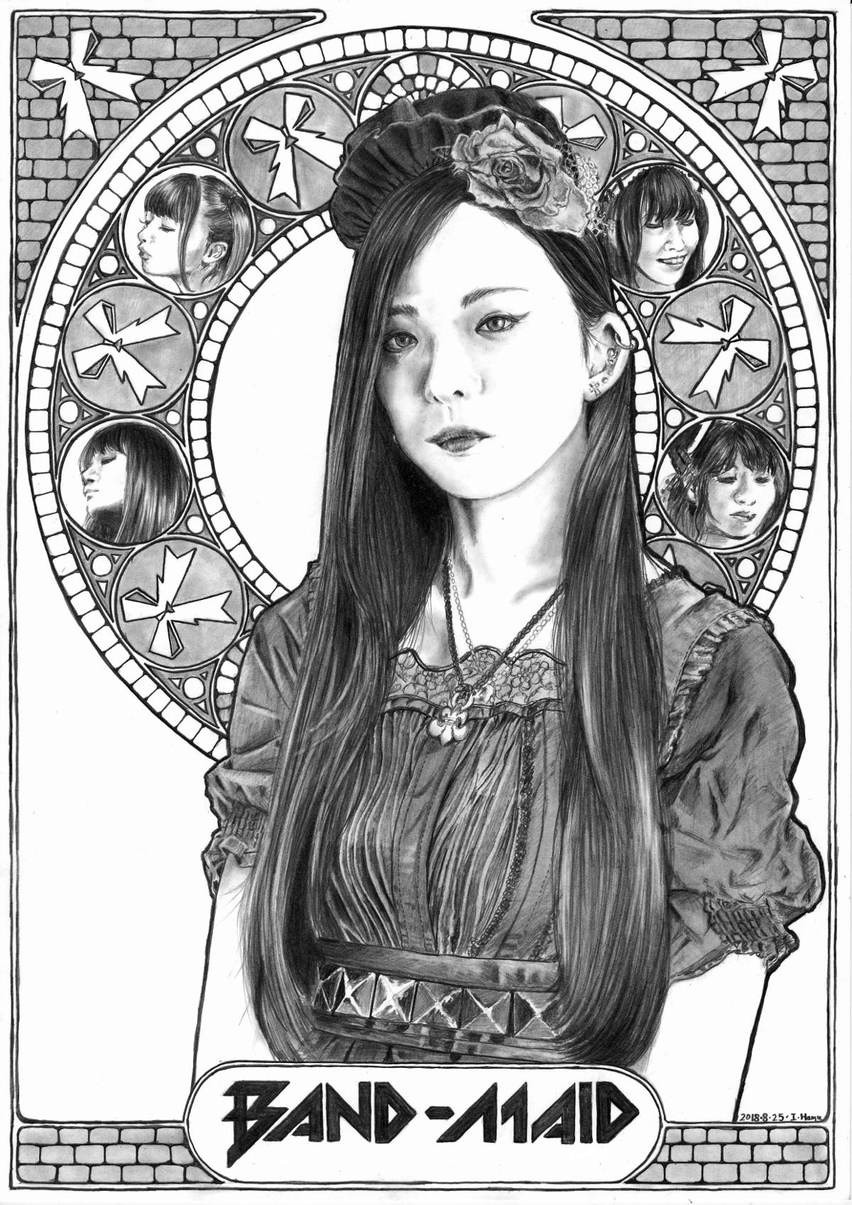 彩姫 BANDMAID ミュシャ風